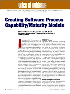 Creating Software Process Capability/Maturity Models - STÓR